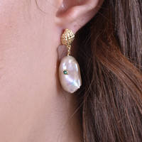 Mediterranean Baroque Pearl Drop Earrings image