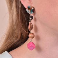 Allyriane Fuchsia Drops Statement Earrings image