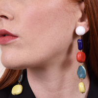 Claudette Color Drops Statement Earrings  image