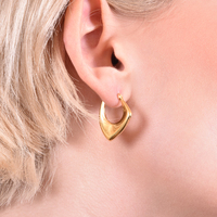 Bailey Irregular Gold Vermeil Earrings image