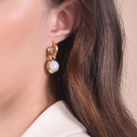 Anya Artisan Moonstone Drop Earrings image