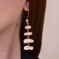 Maelynn European Artisan Pearl Luxury Drop Earrings image