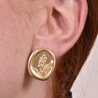 Lera Sparkling Wheat Stud Earrings image