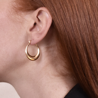 Jobella Golden Hue Huggie Earrings