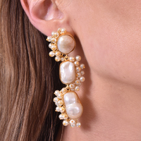 Amour Luxury Natural Pearl Bouquet Earrings image