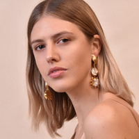 Lilou Luxury Artisan Pearl Drop Earrings (my ears are pierced)