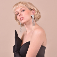 Marlin Crystal Diamante Tassel Earrings