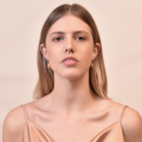 Naomi Gold Filled Dainty Shell Huggie Earrings