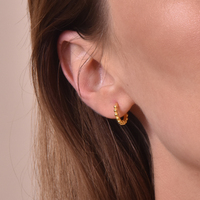 Este Gold Vermeil Dainty Sleeper Earrings