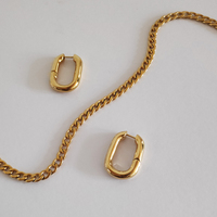 Girlfriend Gold Chain Earrings