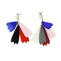 Reinelde Dancing Petals Modern Drop Earrings image