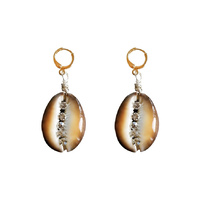 Willow Runway Shell Art Earrings image