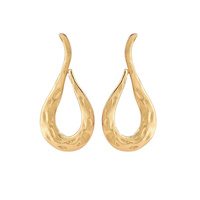 Belevia Golden Drop Earrings (for pierced ears)