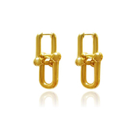 Dairine Gold Solid Huggie Earrings image