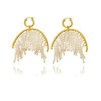 Laurissa Handmade Luxury Pearl Tassel Earrings image
