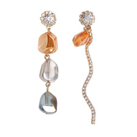 Clare Mismatching Crystal Drop Earrings image