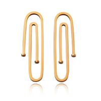 Daeja Modern Paper Clip Statement Earrings image
