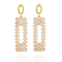 Cecilia Vintage Pearly Drop Earrings image