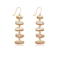 Maelynn Artisan Pearl Drop Earrings
