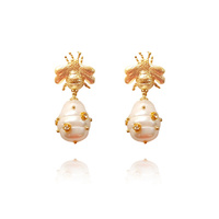 Quinby Gold Vermeil Bee Earrings image