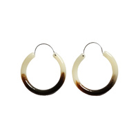 Carme Resin Hoop Earrings image