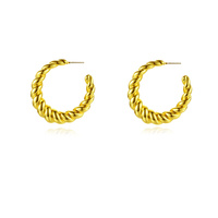 Valencia Gold Filled Twisted Earrings image