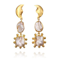 Lilou Luxury Artisan Pearl Drop Earrings image