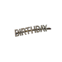 Birthday Rhinestone Hair Clip