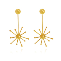 Soleste European Artisan Sparkle Sunshine Drop Statement Earrings image