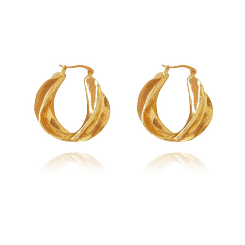 Naevia Golden Twists Earrings